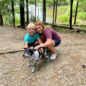 Ava Grayson and dog