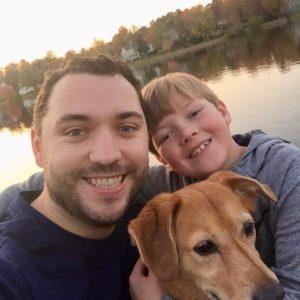 Ben and Hayden and dog