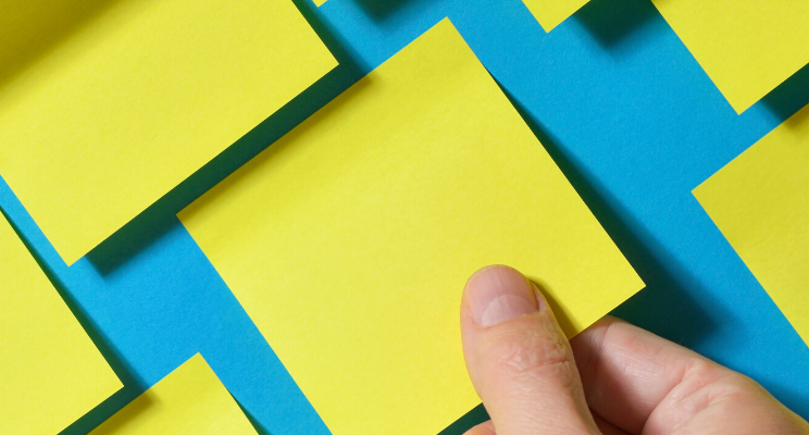 Using postit notes for new year's resolutions
