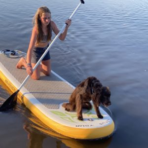 Lila and Cash Paddleboard