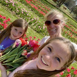 Logan Girls and Tulips